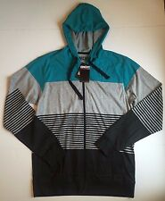 NWT Men's Micros Long Sleeve Gray Front Zip Hoodie, Size S Small