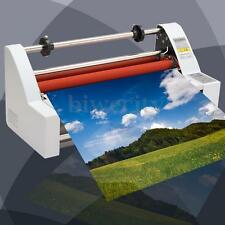 """19"""" Laminator Hot/Cold Double Side Roll Laminating Machine Four Rollers 350#"""