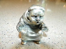 Pewter PELTRO Made in Italy Vintage Figurine Goally Soccer Monk Statue RARE