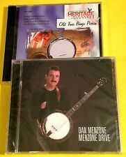 "DAN MENZONE ""Menzone Drive"" CD + JIMMY BROWN ""Old Time Banjo Pickin'"" CD (New!)"