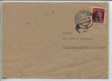 Lokal/Sächs. Schwärzung AP 827 II Bedarfsbrief ab Dresden (B05831)