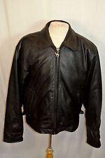 Vintage 1980`s Camel Store Black Leather zip-up Jacket Men`s L