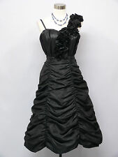 Cherlone Black Prom Ball Evening Bridesmaid Wedding Formal Gown Dress Size 12-14