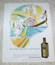 1971 print ad - Passport Scotch Whisky JAFFEE art gondola vintage PRINT ADVERT