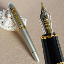 NOBLE JINHAO 159 SILVER SAND 18KGP 0.7MM BROAD NIB FOUNTAIN PEN THICK