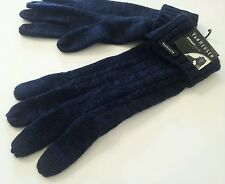 Van Heusen Navy & Black Smart Touch Winter Knit Gloves Mitten Men Women One Size