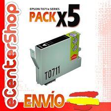 5 Cartuchos de Tinta Negra T0711 NON-OEM Epson Stylus SX218