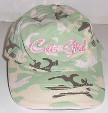"WOMENS ARCTICWEAR by ARCTIC CAT ""Cat Girl"" CAMOUFLAGE NOVELTY BASEBALL HAT"
