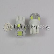 2 x Bombillas 6 LED SMD 5630 T10 W5W Coche, Posicion, Interior... Blanco Xenon