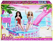 BARBIE GLAM POOL W/ WATER SLIDE & UMBRELLA CGG91 *NEW*