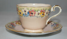 Aynsley - Beautiful vintage pink Cup with floral band & saucer - B5180/3