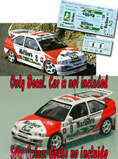 Decal 1:43 Jose Maria Ponce - FORD ESCORT COSWORTH - Rally El Corte Ingles 1994