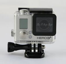 Skeleton Housing Case With Lens for GoPro HD Hero 3+ 4 Side opening