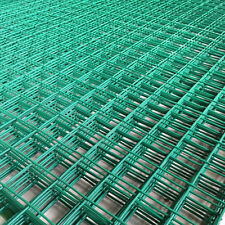 GREEN PVC COATED MESH WIRE FENCING PANEL LARGE GARDEN OUTDOOR 1.8M x 0.9M x 50mm