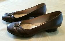 "CLARKS Artisan Collection ""Epsilon"" Brown Leather Shoes Womens Size 10M"