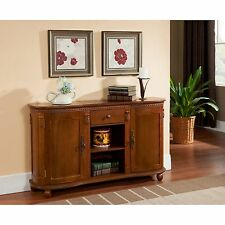Sideboard Console Table Buffet Server Wood Walnut Storage Cabinet Dining Room