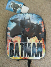 Batman 'Dark Knight' Backpack Bag Great For School or Nursery. Brand New