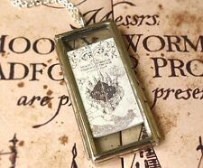 Marauders Map Necklace - Harry Potter Inspired Jewelry