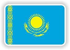 """Autocollant Drapeau Kazakhstan 2,8 x4 """"Voiture Pare-chocs Autocollant Réfrigérateur TABLETTE PORTE vélo camion"""