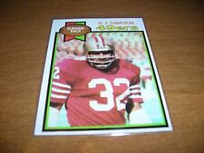 1979 Topps NFL Football, #170 O.J.Simpson, San Francisco 49ers, ex condition
