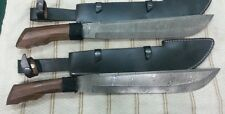 Custom made Beautiful Real Steel, Damascus FILIPINO Machete Pair