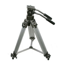 Professional Heavy Duty 75mm Video Camera DSLR Tripod with Fluid Drag Pan Head