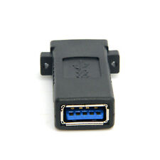 USB 3.0 Female to Female Extension Exteder Coupler Adapter with Panel Mount Hole