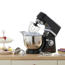 Cooks Professional 5L Bowl Black Stand Mixer 800W 6 Speed Whipping Kneading