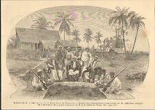 MADAGASCAR CHEF SAKALAVE GRAVURE IMAGE 1887