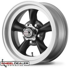 "15x7-15x8"" BLACK AMERICAN RACING TORQ THRUST D WHEELS FOR FORD MUSTANG 1969 1970"