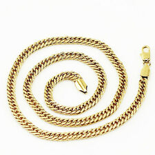Luxury Mens Jewellery 18 k Gold Plated Necklace for Men Chain Wide 5 mm N299
