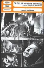 CALTIKI LE MONSTRE IMMORTEL - (Fiche Cinéma) 1959 - Caltiki, the Immortal Monste