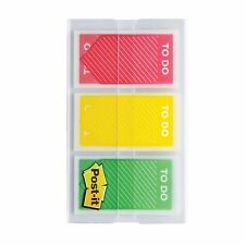 """Post-it 1"""" Color To Do Flags - 1"""" - To Do - Red, Yellow, Green - Repositionable,"""