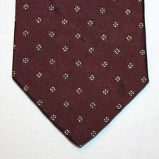 NEW Today's Man Silk Neck Tie Burgundy with Yellow and Blue Pattern 1443