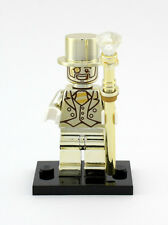 Lego Mr. Gold Series 10 Collectible Custom Printed Minifigure Chrome Gold