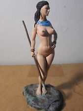 75MM EVD miniatures--HUNTRESS LADY FROM TASSILI  metal fig painted by seller