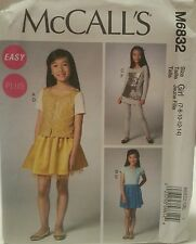 M6832 New McCall's Easy Plus Girls Fashion Sewing Patterns For Sizes 7-14