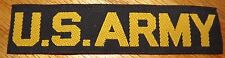 US ARMY BLACK AND GOLD BEVO NAME TAPE ***UNUSED*** MINT***