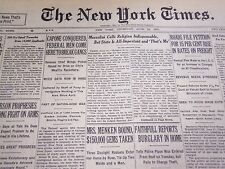1931 JUNE 18 NEW YORK TIMES - CAPONE CONQUERED, FEDERAL MEN BREAK GANG - NT 5004