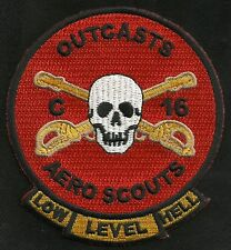 ARMY - C Troop 16th Cavalry Regiment AERO SCOUTS Military Patch OUTCASTS