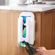 Home Plastic Bag Storage Box Bag Holder Dispenser Grocery Wall Mount Kitchen