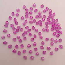 NEW 500Pcs Purple Faceted Bicone Acrylic Spacer Beads 4mm