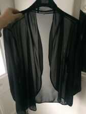 Black Sheer Blouse Cover Up Size 16, Wedding