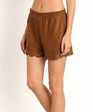 NWT $88 BB Dakota Laser Cut Faux Suede / Vegan Leather Shorts sz L