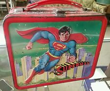 1978 Superman metal lunchbox with thermos ALADDIN NASHVILLE