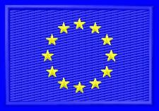 Flag EU European Union Drapeau ecusson brodé patche Thermocollant iron-on patch