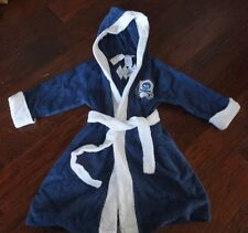 $49 The Company Store Kids Boys S 4 5 Blue Pirate Terry Cloth Towel Robe Hooded