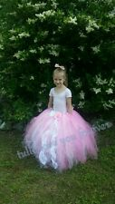 Princess for a day, pink tutu skirt, full length, handmade, size 5-8 years