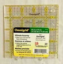 "Omnigrid 4 ½"" Square New Sealed Rotary Cutting Ruler Quilting Sewing Crafts"