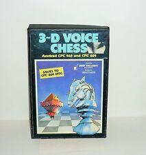 JEU VINTAGE CASSETTE AMSTRAD 3D VOICE CHESS